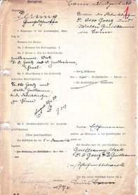 Gründungsdokument von 1920