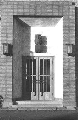 Eingangstür mit ATLANTIC Eule 1925